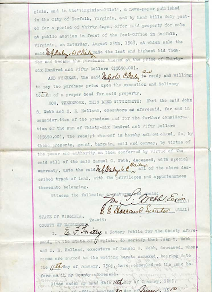 page-2-of-1909-deed-webb-to-dailey-mg009