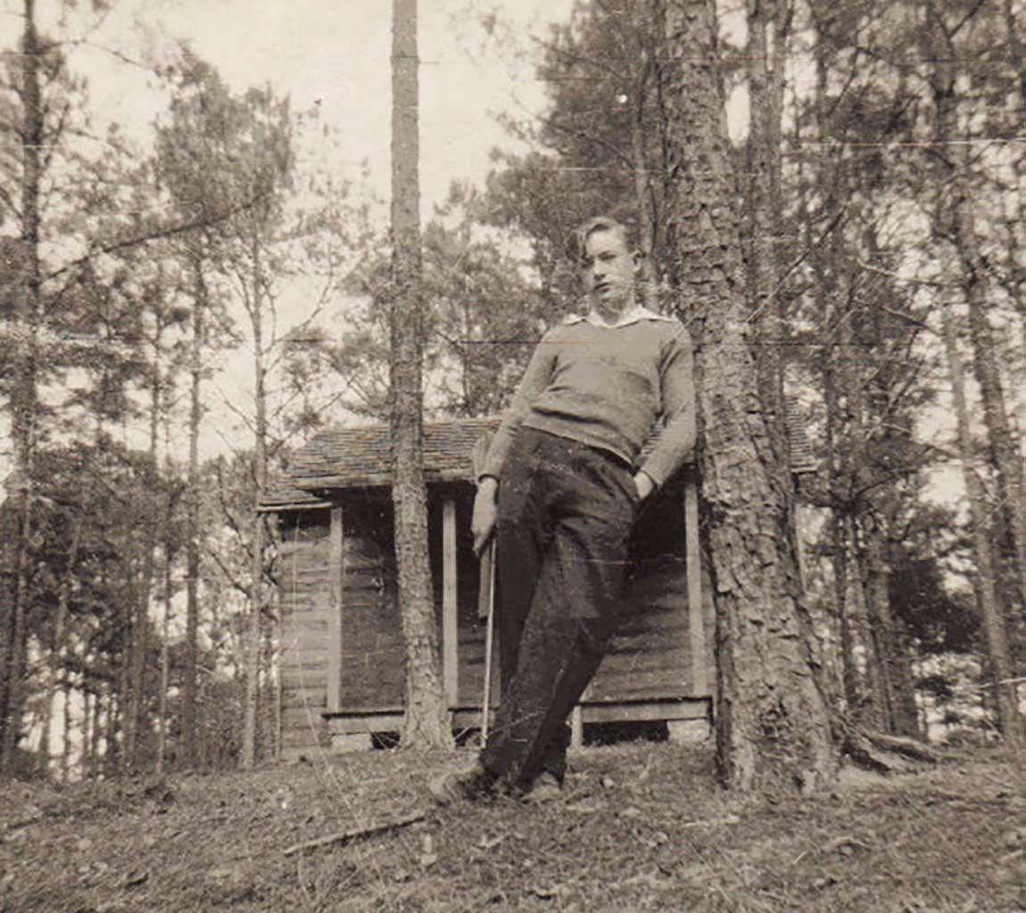 joe-byrd-at-boy-scout-cabin-on-gray-farm-leroy-howell-photo