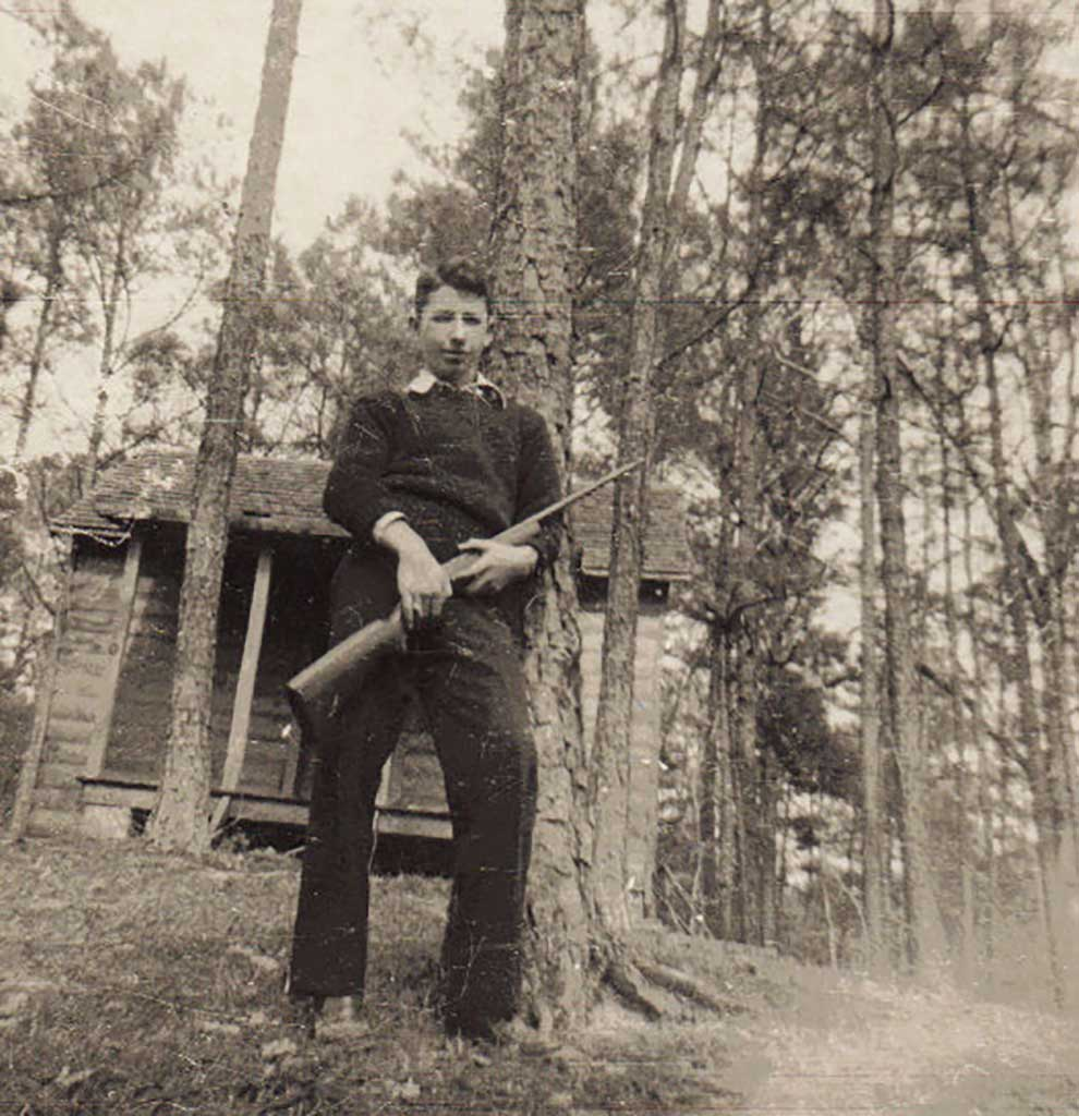 leroy-howell-at-boy-scout-cabin-on-gray-farm-leroy-howell-photo