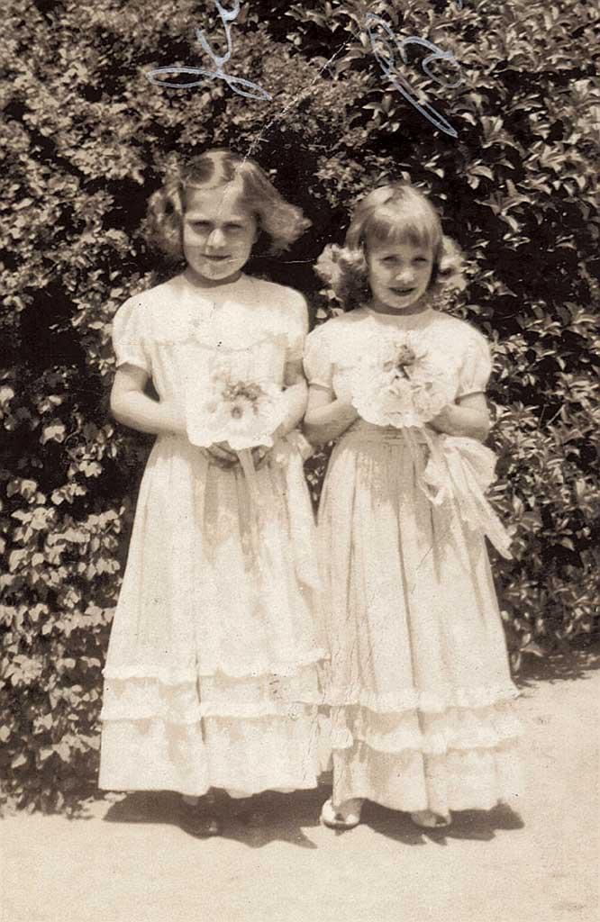 Janet Kright & Betty Barrett May Day CHS 4th gr. 195