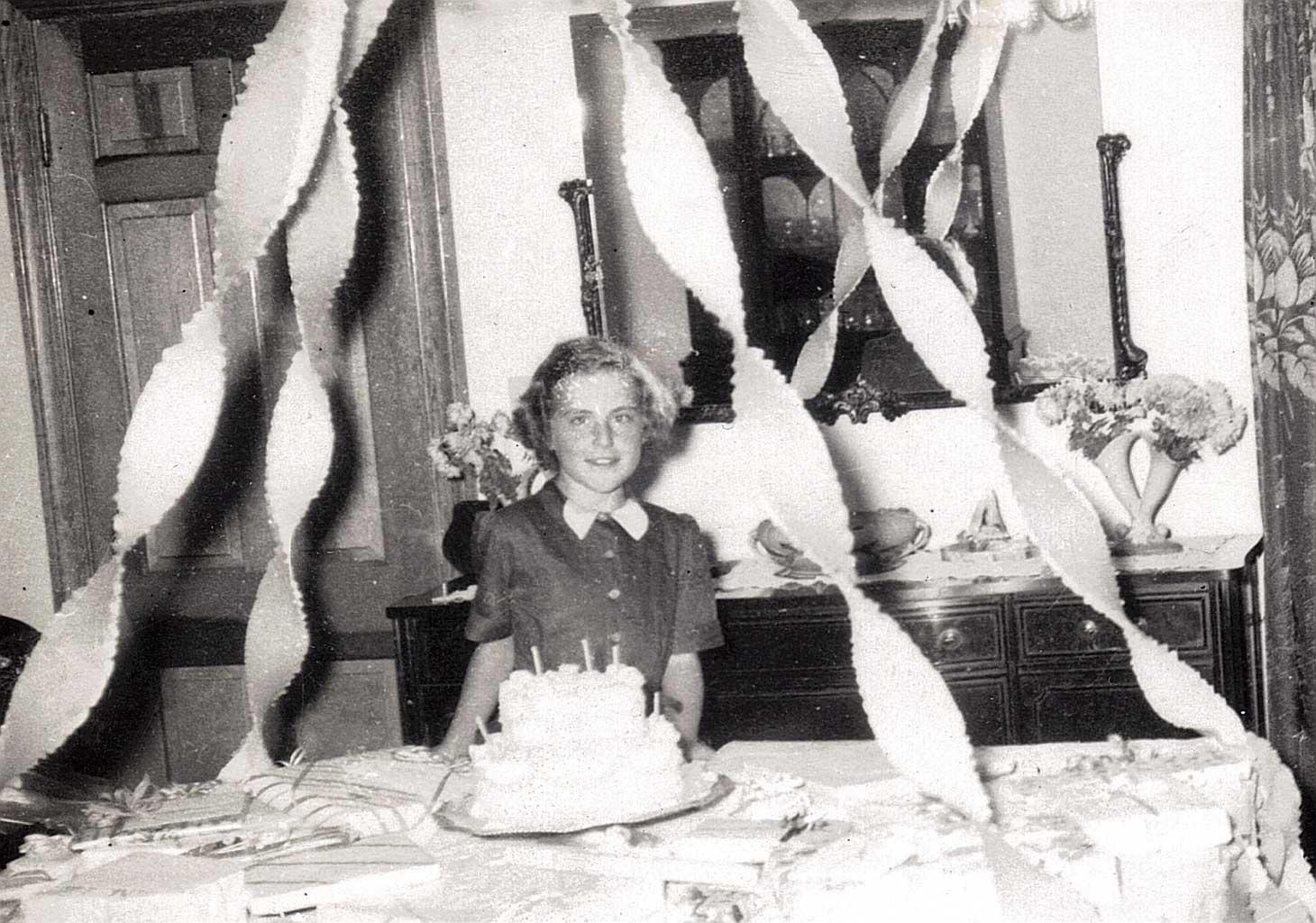 Janet and birthday cake