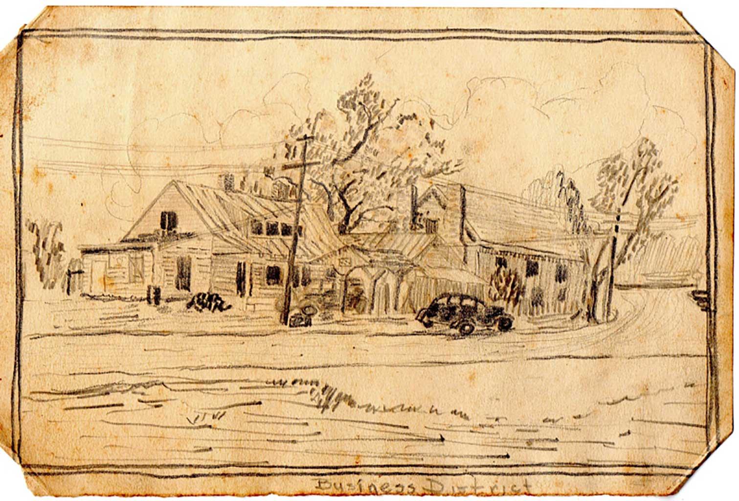 pensil-sketch-of-moores-store-and-gwaltneys-store-img413