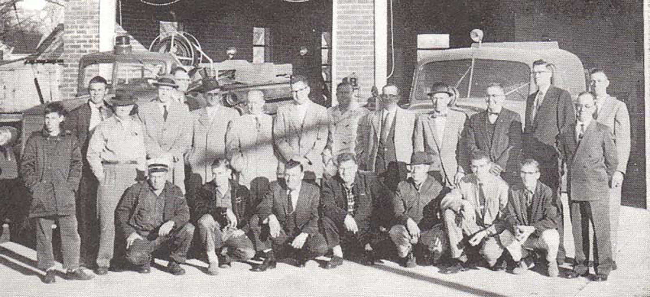 cvfd-members-in-front-of-new-fire-station-1955
